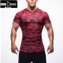 2017 Rushed Summer Golds  T-shirts Men Bodybuilding V Neck Top Casual Men's Short Sleeve M-2xl Freepost Compression Clothes