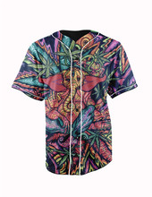 Real American Size hindu god 3D Sublimation Print Custom made Button up baseball jersey plus size