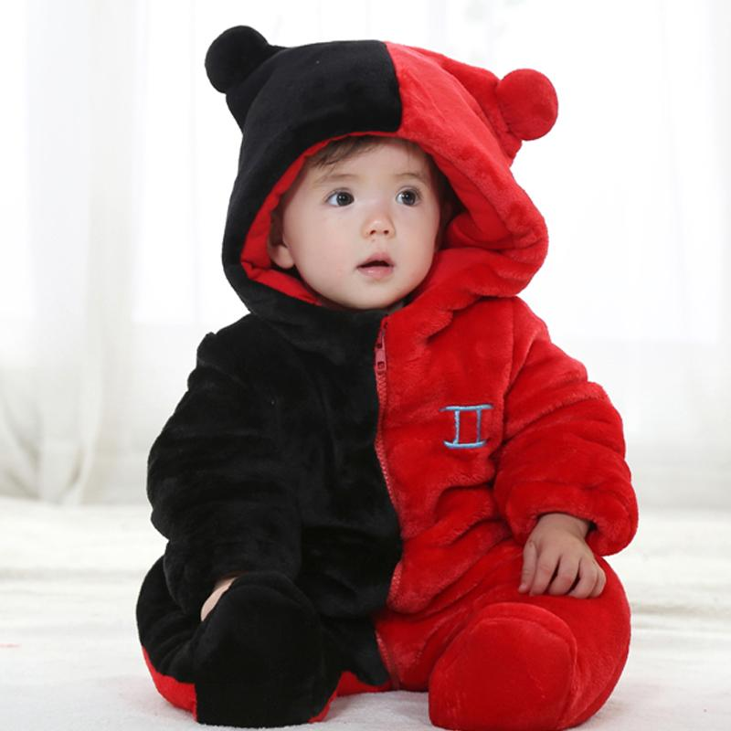 Winter child coverall clothes infant girls boys for 0-23 months cotton fleece infant clothing china KJ-16012<br><br>Aliexpress