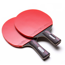 Quick Attack Carbon Fiber Table Tennis Racket Blade With Double Face Pimples-in Racket Rubber PingPong Table Tennis Bat