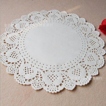 Free shipping 12.5 inches/320mm Vintage napkin Hollowed Lace Paper mat Crafts paper Doilies Wedding Decoration(100pcs/bag)