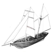 LOVE MODEL 1830 US Classic Baltiomore Schooner wooden model Scale 1/70 New Port sail boat wooden Model kits(China)