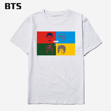 BTS Queen Band T-shirt Men Brand New Rock Music 2017 New Arrival Men T Shirt Casual Design Fashion Pattern Tees Shirts For Man(China)