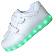 Fashion Led Kids Sneakers Children's USB Charging Luminous Lighted Sneakers Boy/Girls Colorful LED lights Children Shoes 25-40