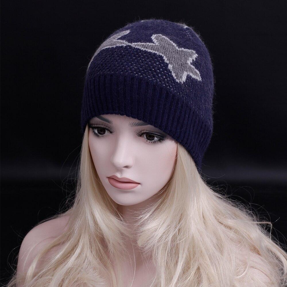 2016 New brand winter Casual Skullies &amp; Beanies Fashion Hats Star pattern Beanies Winter Gorros for Female Knitted hat Îäåæäà è àêñåññóàðû<br><br>