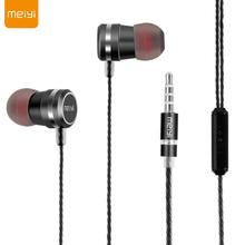 MEIYI Y12 3.5mm Wired Metal In-ear Earphone with Mic Wire Control Earphone For iPhone 6s 6 plus iPad for Samsung HTC LG(China)