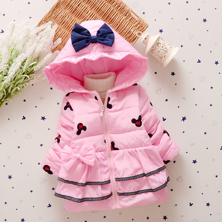New fashion baby girls outerwear kid cotton Hooded coats Winter Jacket warm Coat childrens winter clothing Одежда и ак�е��уары<br><br><br>Aliexpress