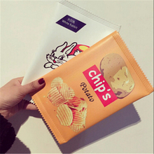 2017 Cute Purse Women Girls Funny Potato Chips Rabbit Print Clutches Wallet Case for Cell phone iPad 3 sizes Sac A main