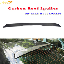 W222 Carbon Fiber Rear Roof Wing Spoiler for Mercedes Benz W222 S400 S500 S600 S63 S65 AMG 2014 2015 2016 Tail Roof Window Wing