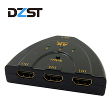DZLST HDMI Splitter 3 in 1 Out Port Hub HDMI Switch Mini 3 Ports 1080P 4k*2k 3D 1.4b Switcher for DVD HDTV Xbox PS3 PS4(China)