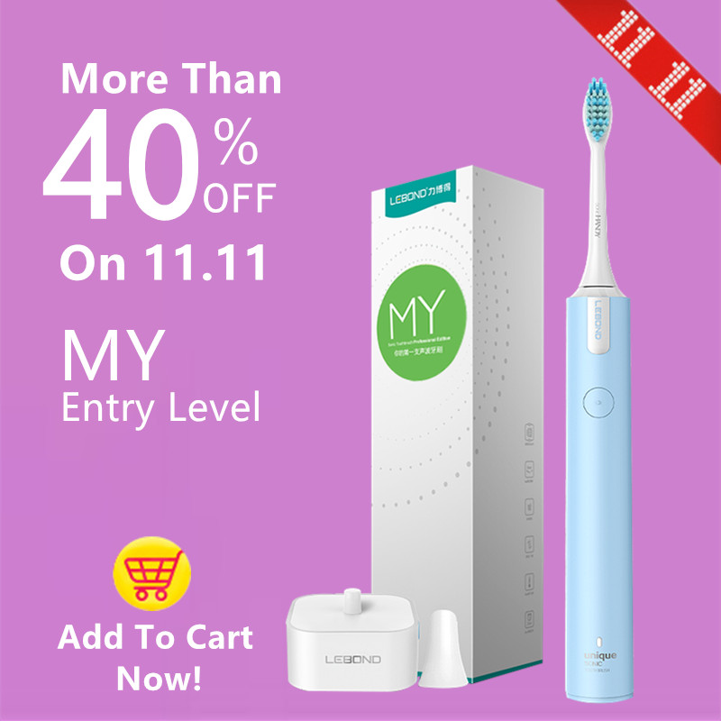 LEBOND Sonic Electric Toothbrush MY Entry Level With Inductive Charger Effective Clean For Adults Blue<br>