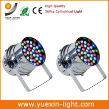 Free Shipping 2pcs/lot 3W*36Pcs RGB led par can light Cheap Dj stage effect par Lighting for disco and home party