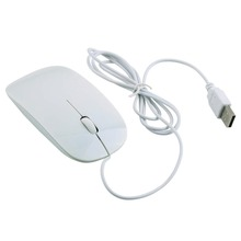 NEW Ultra Thin USB 1600DPI Wired Optical Mouse Mice FOR PC Notebook