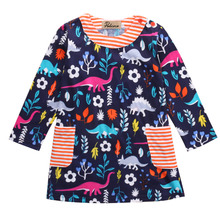 1 Pc High Quality Baby Girl Dress Flower Girls Princess Party Dresses Long Sleeve Print Girls Clothes for Christmas Infant Dress