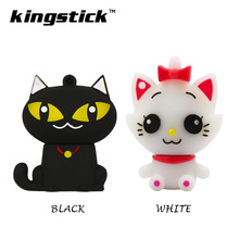 Hot Silicone mini cat baby model USB flash drive 16gb 32gb 64gb pen drive 8gb 4gb Flash Memory Stick Drive U Disk pendrive Gift(China)