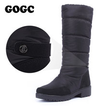 GOGC (High) 저 (겨울 Boots Women 방수 눈 Boots Warm 겨울 Shoes Women Boots Plus Size Easy 착용 Desinger Women (High) 저 (부츠(China)