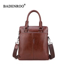 KQDAISHU Brand Men's bag Vertical Tote Briefcases pu Leather Bags quality Tote Handbag top-handle Casual bags for men Crossbody(China)