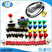 Arcade parts Bundles kit With Joystick,Pushbutton,Microswitch,2 player USB to PC PS3 Jamme PCB board to Build Up Arcade Machine