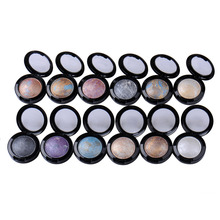Hot selling 12 Colors Shimmer Metallic  Eye shadow Palette Baked Eyeshadow Makeup  Palette