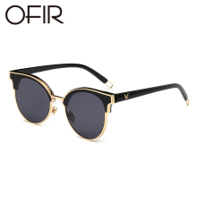 OFIR New Sun Glasses For Women Blue Sea Legend Eyewear GM Cat Eye Frame Fashion Alloy Shades vintage Glasses UV400(China)
