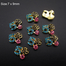 "10pcs  Brand name logo Number""5"" strass nail art rhinestones mixed glitter jewelry for nail manicure AM404"