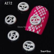 A268 10 шт./лот очарование логотип бренда сплав ногтей DIY украшения для Гвозди 3D ногтей УФ гелевые ногти Интимные аксессуары(China)
