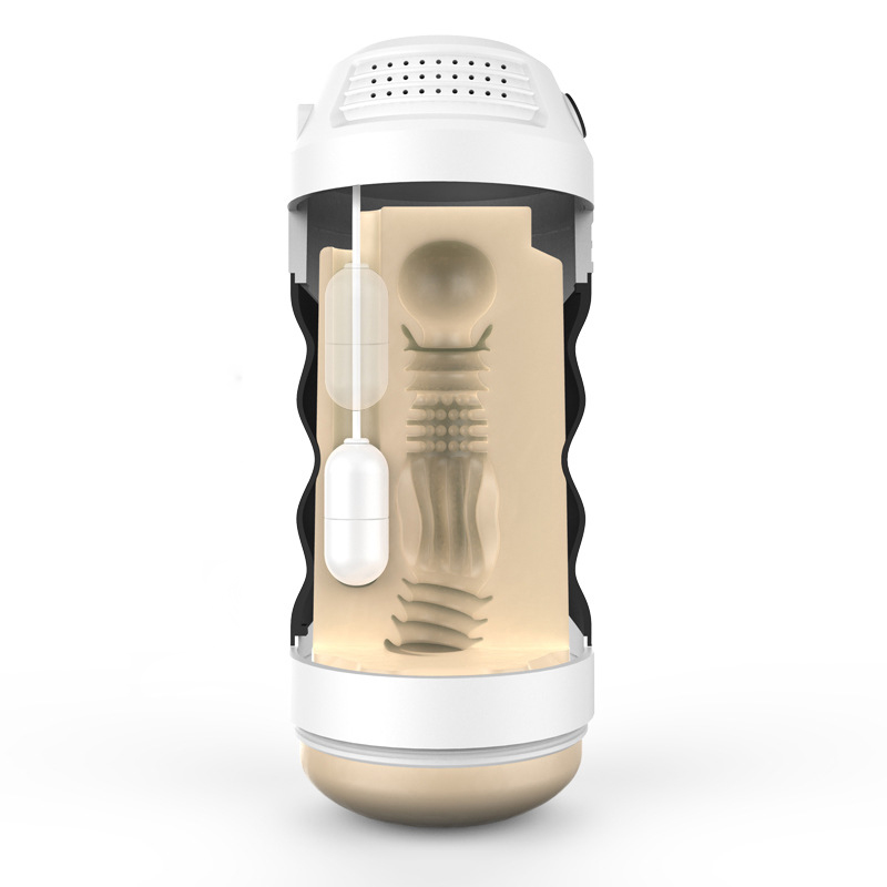 Japan rends male masturbator vibrator 3D artificial vagina Intelligent voice masturbator cup adult sex toys for men pocket pussy<br>