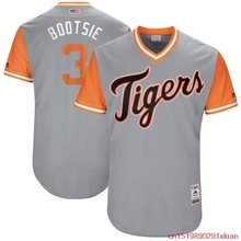 "MLB Men's Detroit Tigers Ian Kinsler ""Bootsie"" Baseball Gray 2017 Players Weekend Authentic Jersey(China)"