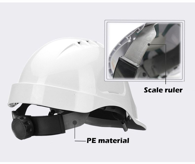 Safety Helmet Hard Hat Work Cap ABS Material Construction Protect Helmets High Quality Breathable Engineering Power Labor Helmet (12)