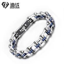 2016 New arrival hot sale fashion vintage men's jewelry 316l titanium steel vintage Bike Bicycle Chain bracelet for men