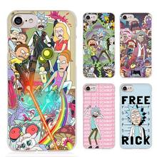 rick and morty Clear Cell Phone Case Cover for Apple iPhone 4 4s 5 5s SE 5c 6 6s 7 Plus