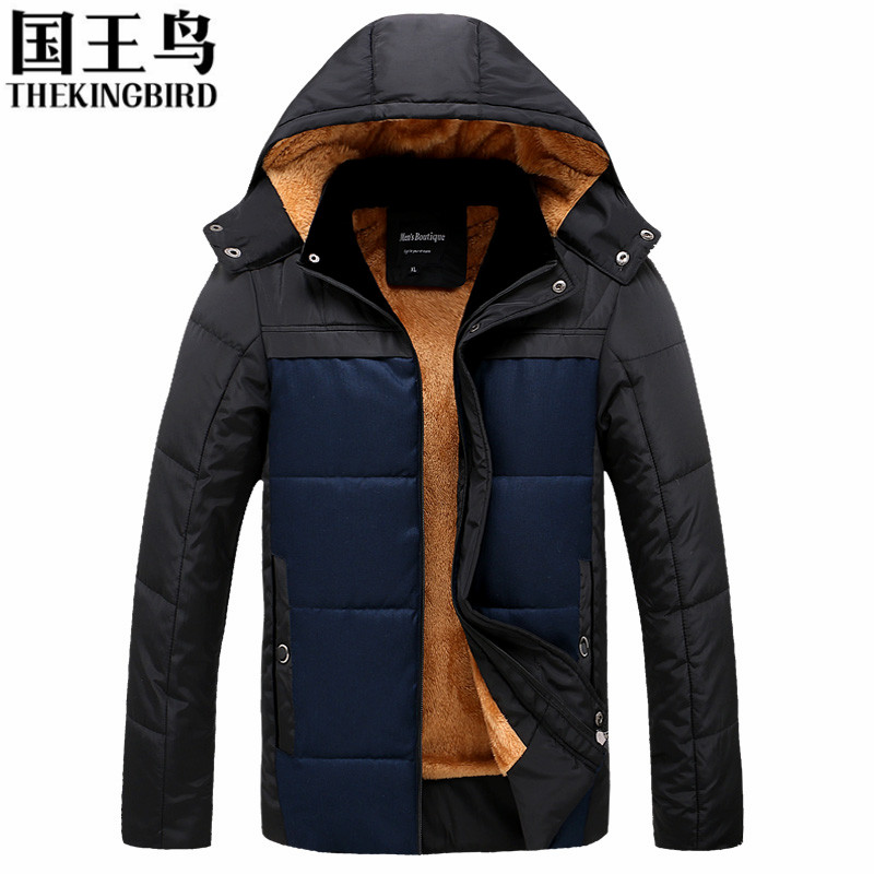 winter cotton coat men Middle-aged  thickness wadded jacket Wool Liner hoodies slim patchwork parkas casual warm snow overcoat Одежда и ак�е��уары<br><br><br>Aliexpress