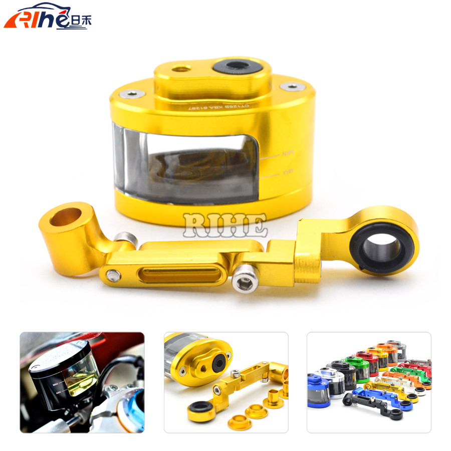 universal Motorcycle cnc Clutch Brake Fluid oil Reservoir Cup tank +support bracket for Yamaha YZF R6 YZF R1 BMW S1000RR F800GS<br><br>Aliexpress