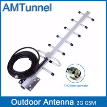 Outdoor antenna GSM yagi outdoor antenna GSM antenna 2G 11dBi with 5m cable GSM external antenna with TNC male connector(China)