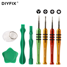 DIYFIX Precision Screwdriver Set for iPhone 7 Repair Tools Kit LCD Opening Suction Cup Plastic Pry Spudger(China)
