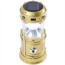 Solar Outdoor Adjustable Flashlight  LED Rechargeable Solar Camping Lantern LED Torch Flashlight Cycling Tent Lights for Outdoor