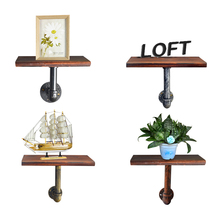 1pcs/lot Retro Shelf Legs LOFT Industry Style Storage Rack Wall Hanging Flower pot book Shelf Living room and Bedroom Decoration(China)