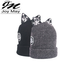 JOYMAY Women Winter Warm Braided Crochet Knitting Hat Girl Beret Beanie Ball Cap WM030