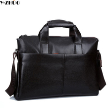 men leather briefcase genuine leather handbags tote business men messenger bags brand men shoulder Laptop crossbody bags black