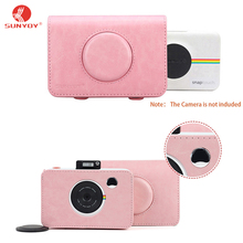 Sunyoy Vintage Pink/Brown PU Leather Case Bag for Polaroid Snap Touch Instant Print Digital Camera,Free Shipping(China)