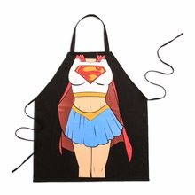 Sailor Moon Cartoon Apron Men Women Waiter Cooking Party Cosplay Creative Aprons Black Cotton Bibs 78*66cm Wholesale(China)