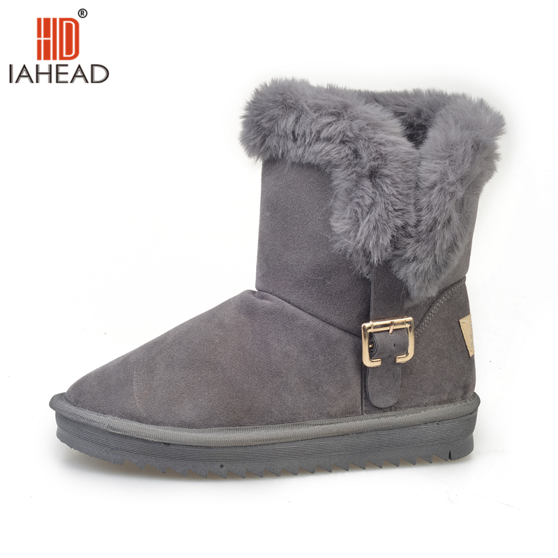 IAHEAD Brand Shoes Winter Women Shoes Snow Boots Ankle High Super Quality Fashion Boots Warm Shoes UPC424<br>