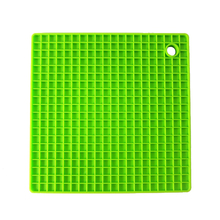 7-inch Silicone Pot Holder, Trivet Mat,jar Opener,spoon Rest Non Slip, Flexible, Durable, Heat Resistant Hot Padsgreen