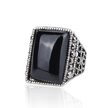2014 Latest Design Black Enamel Ring Size 11 Fashion Rings Plated With Men Jewelry Gift Free Shipping(China)