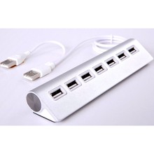 2016 Aluminum Alloy High Speed 7 Ports USB 2.0 HUB Adapter Transfer Speed Up to 480M bps Mini USB Hub For Apple Mac PC Laptop