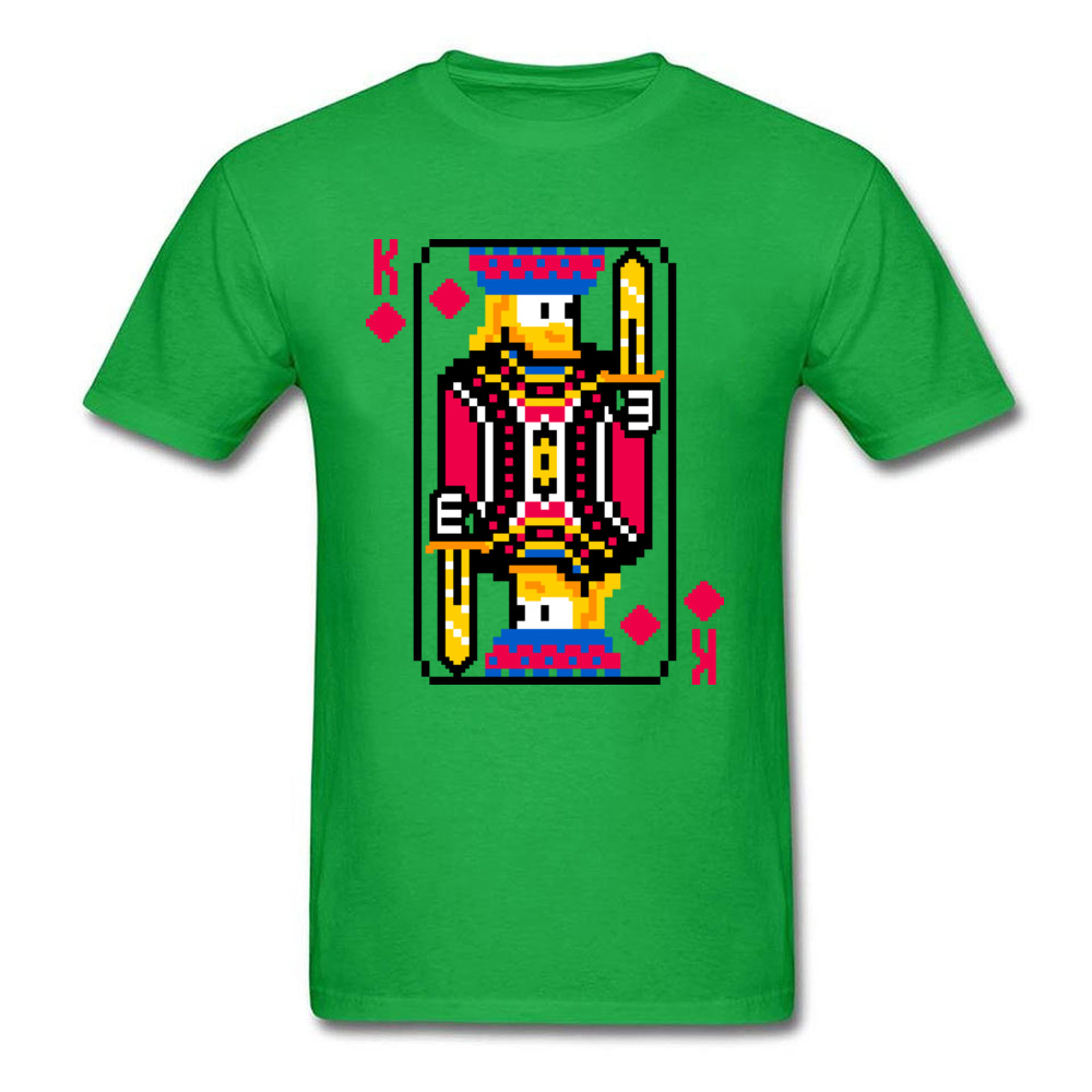 King of Diamonds Graphic Mens T Shirt Crewneck Short Sleeve Cotton Tees Summer T-shirts Free Shipping King of Diamonds green