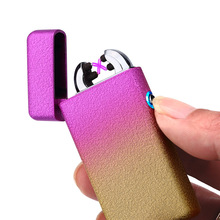 Dual Arc Electronic USB Plasma Lighter Cigarette Pulsed Windproof Electric Lighters Rechargeable Arc Smoking Lighter(China)
