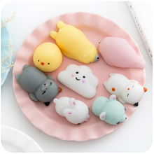 Cute Mochi Squishy Cat Squeeze mini antistress ball toy vent Healing rising Fun Kid Kawaii kids Adult Toy Stress Reliever Decor.
