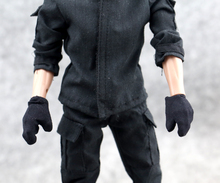 1/6 soldiers gloves white black with finger gloves work generally special deal with the spot Action Figures(China)