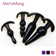 Mayamang 4pcs/set Silicone Anal Toys Butt Plugs Anal Dildo Sex Toys products anal for Women and Men anal butt plug Gay Sex Toy